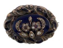 AMAZING Georgian 14k WG, Silver, Rose Cut Diamond &