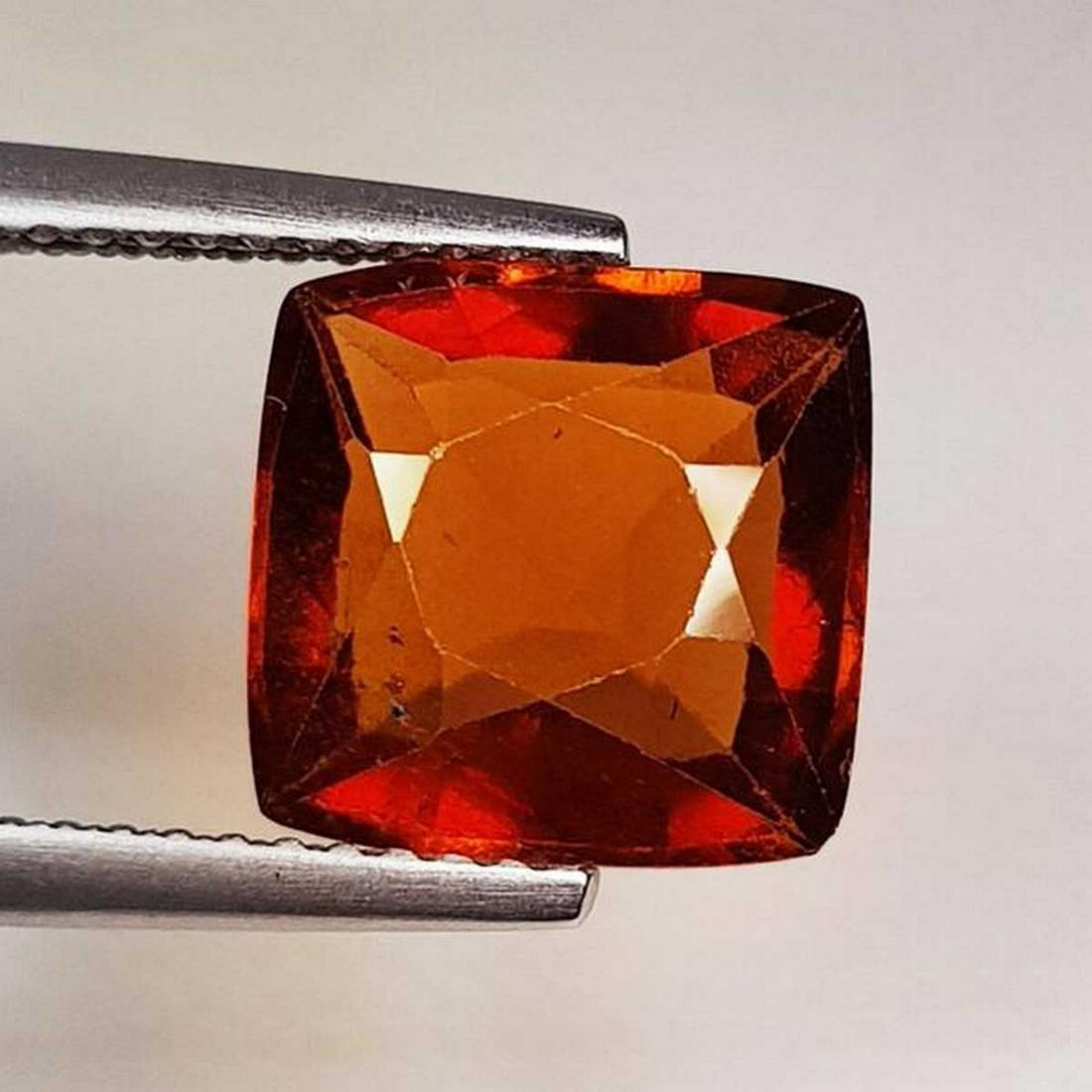 Natural Hessonite Garnet Cushion Cut 4.39 ct