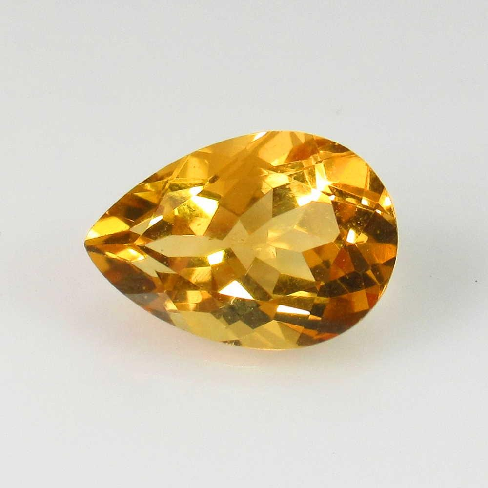4.63 Ct Genuine Yellow Citrine Pear Cut