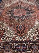 Semi Antique Hand Woven Persian Heriz 10x13