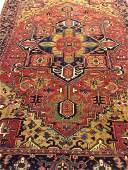 Semi Antique Hand Woven Persian Heriz 10.8x7.8
