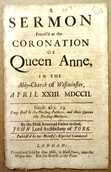 1706 Sermon Coronation of Queen Anne