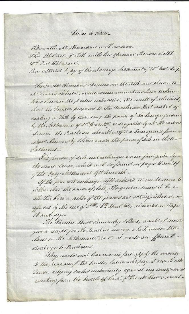 Two 19th C English Legal Manuscripts