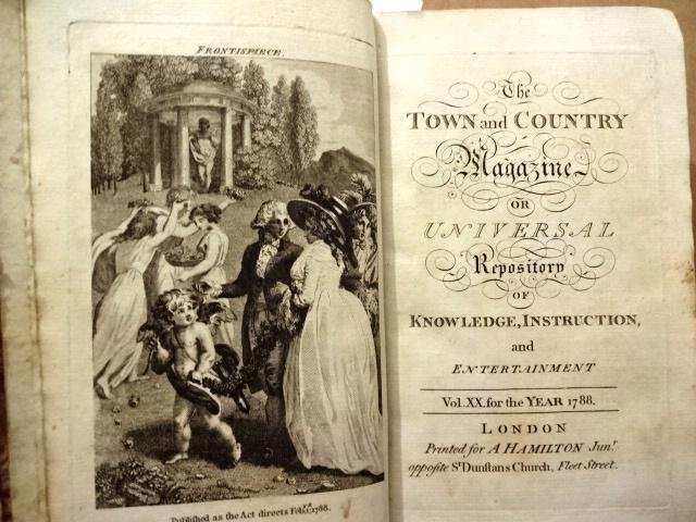1788 Volume Town and Country Magazine Slave Trade