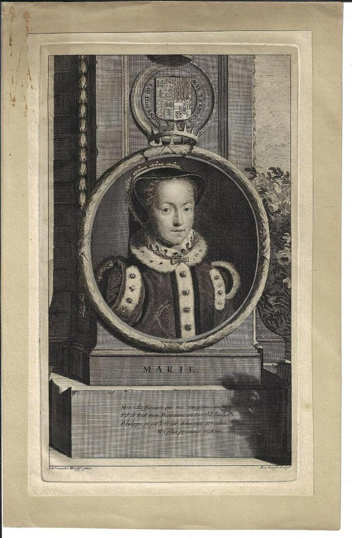 1720 Engraving of Queen Mary I