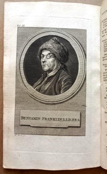 1777 Magazine Portrait of Benjamin Franklin War News