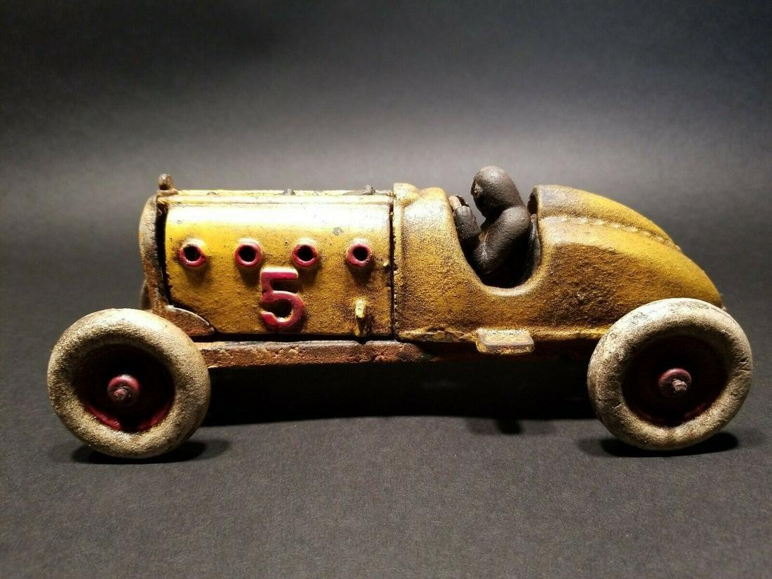 Cast Iron #5 Toy Race Car w Lifting Hood