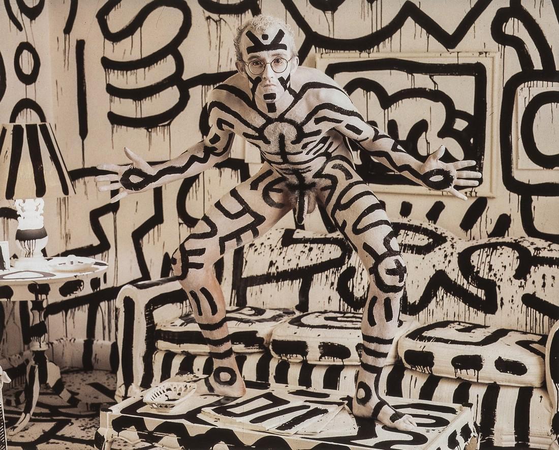 ANNIE LEIBOVITZ - Keith Haring, New York City, 1986