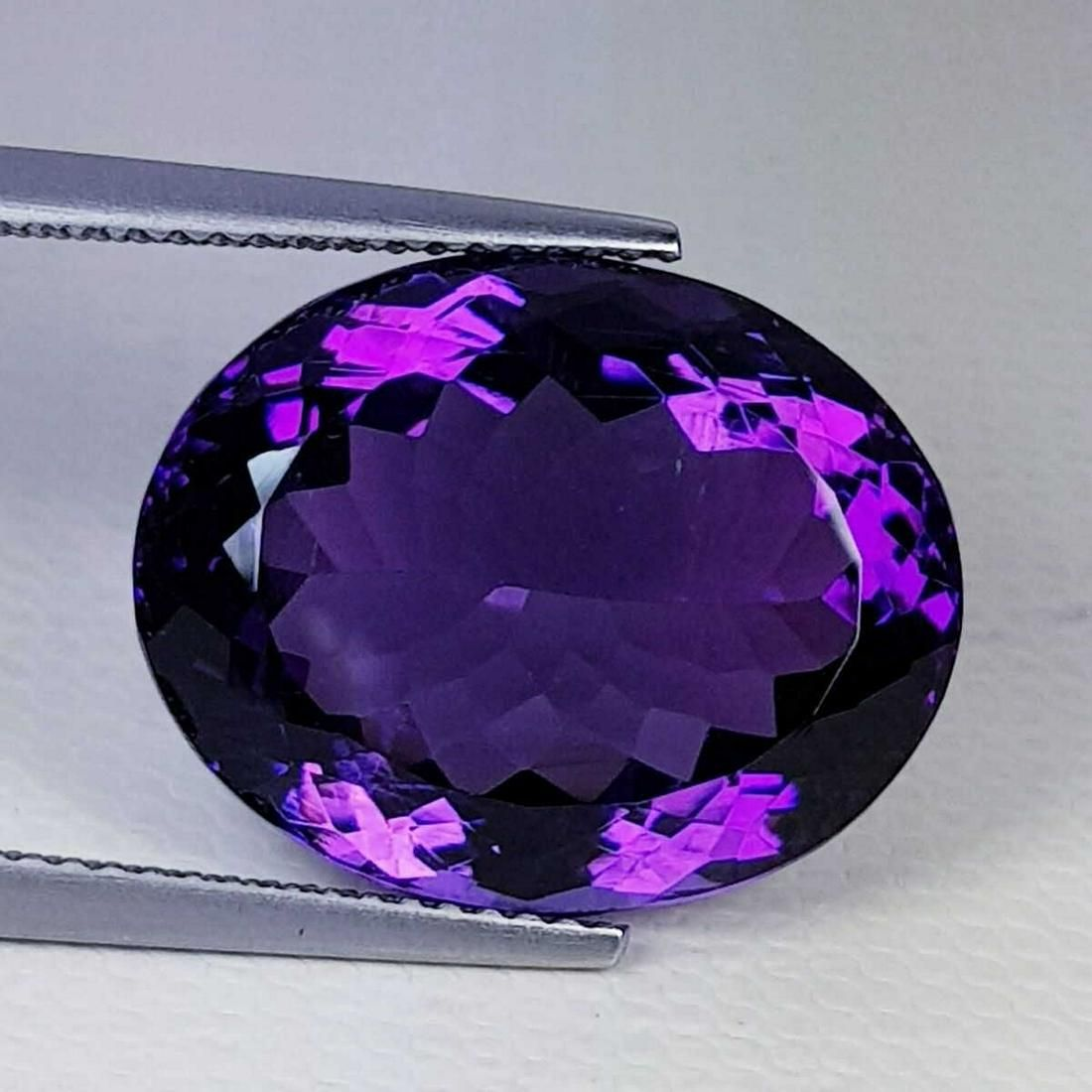 Natural Amethyst Oval Cut 16.69 ct