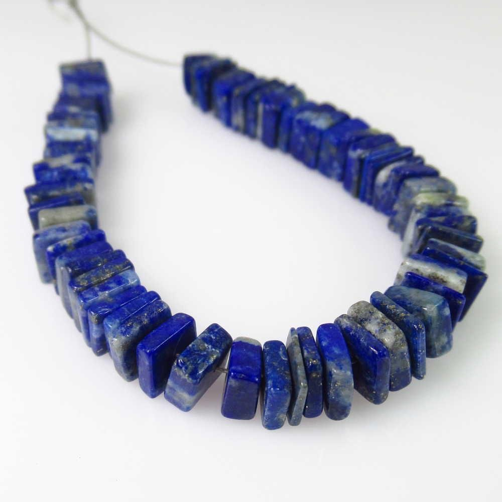33.14 Ct Genuine 68 Lapis Lazuli Drilled Square Beads