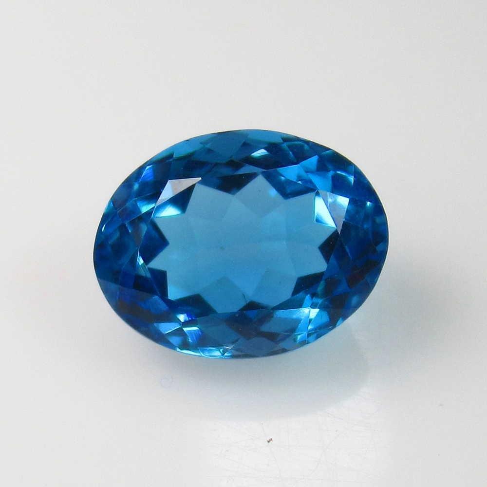 3.92 Ct Genuine Blue Topaz Oval Cut
