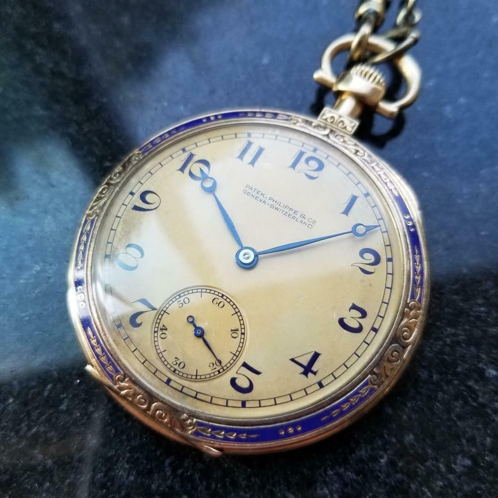 PATEK PHILIPPE Swiss 18k Gold Pocket Watch 46mm,
