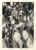 Robert Wogensky original etching for Paroles Peintes