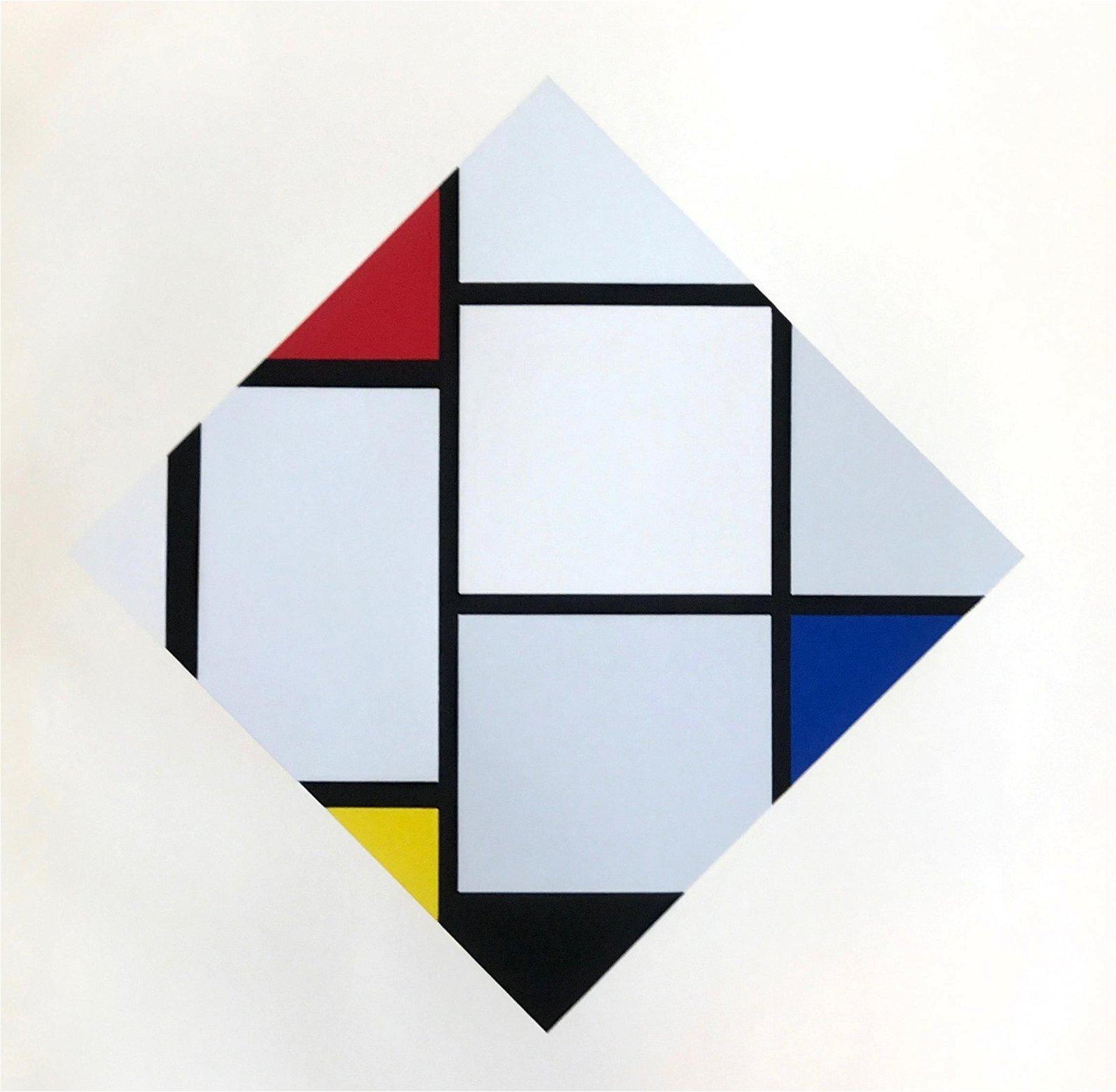 "Piet Mondrian serigraph ""Composition rouge, jaune,"