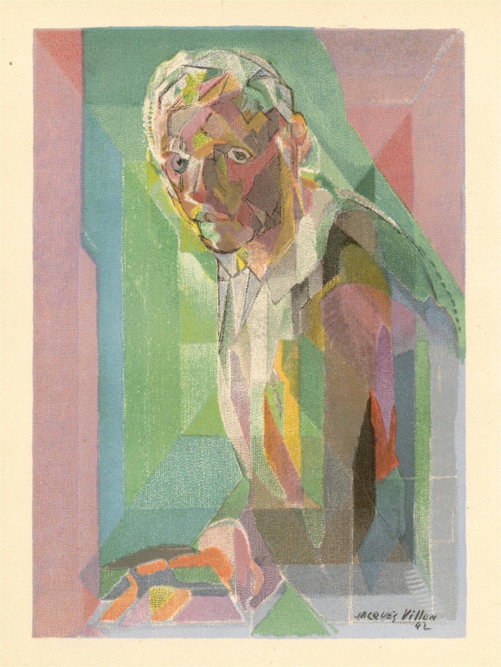 """Jacques Villon lithograph """"Portrait"""""""