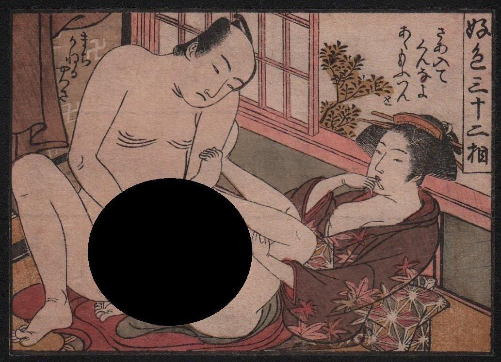 Katsukawa Shuncho: Shunga (erotic).