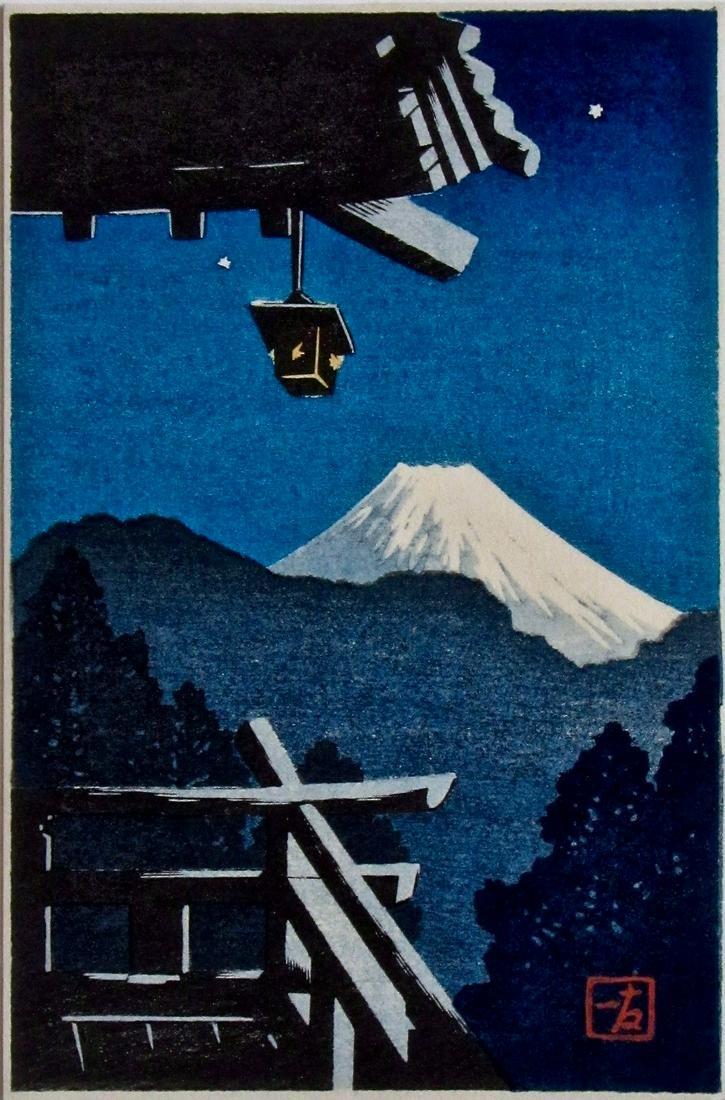 Kikuchi: Fuji at Night