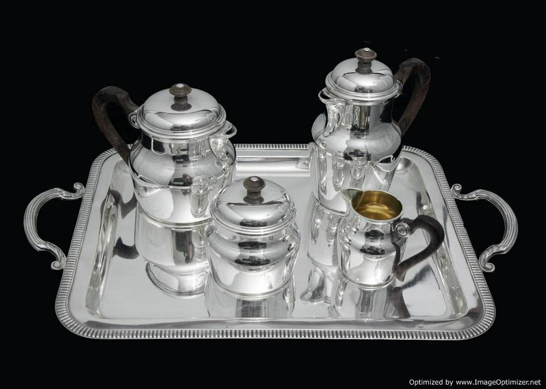 PUIFORCAT FRENCH ART DECO STERLING SILVER TEA / COFFEE