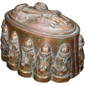 Victorian Copper Food Mold with Late 19th Century