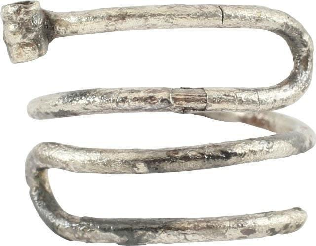 VIKING SILVER HAIR RING. 10TH-11TH century AD.