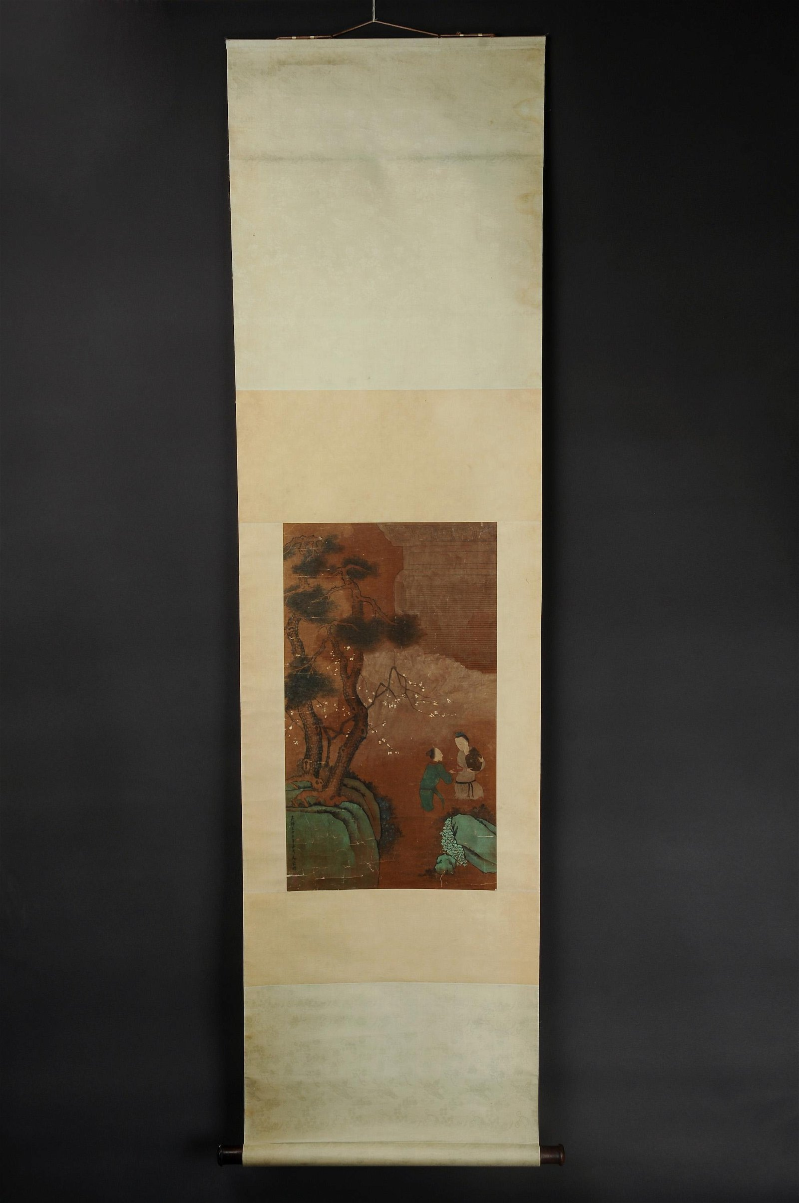 Chinese Qing Dynasty Painting-Silk-Ancient Figures