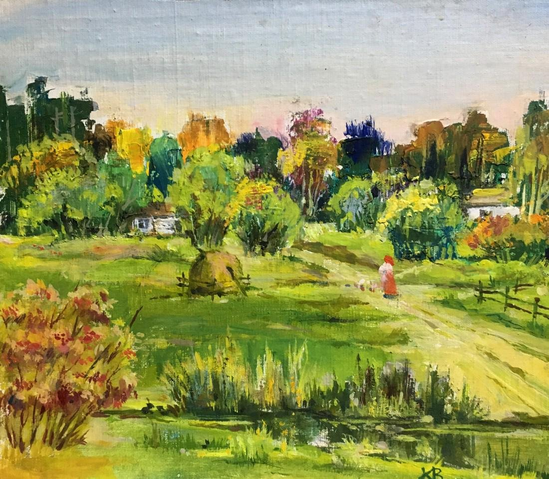 Oil painting Village Kizenko Vladimir