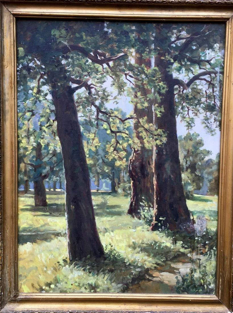 Oil painting Oak trees