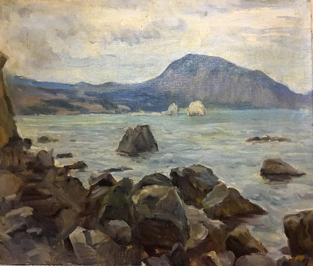Oil painting Calm sea V. Nikitin