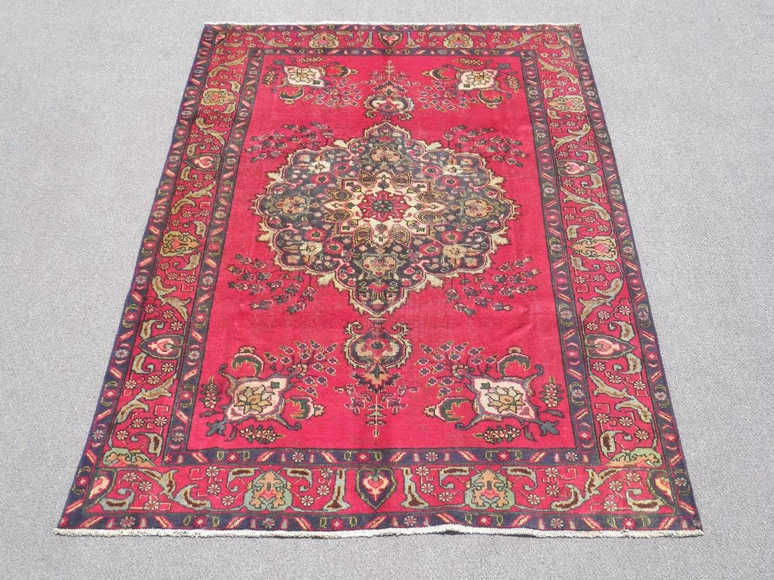 Quality Semi Antique Persian Tabriz 9.4x6.4