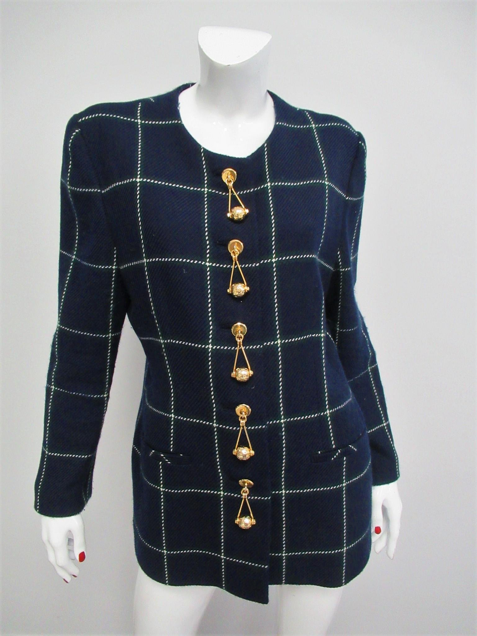 Gai Mattiolo vintage jacket in pure wool Size L