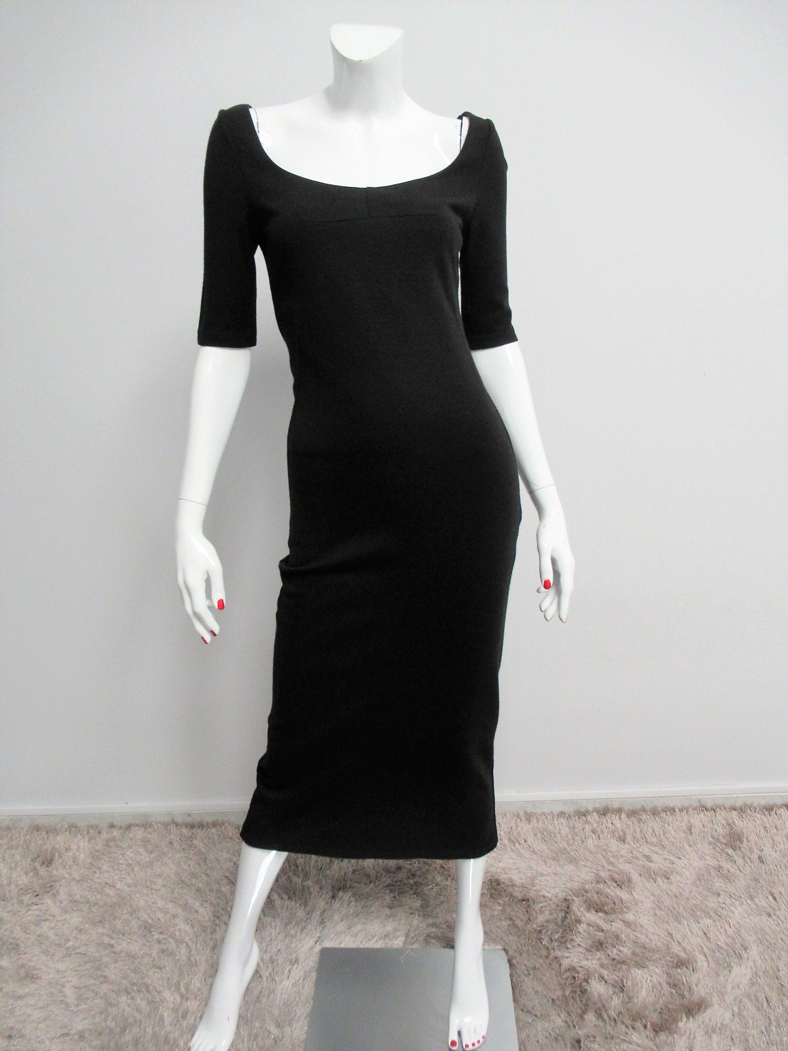 D&G long dress in wool and silk blend Size M