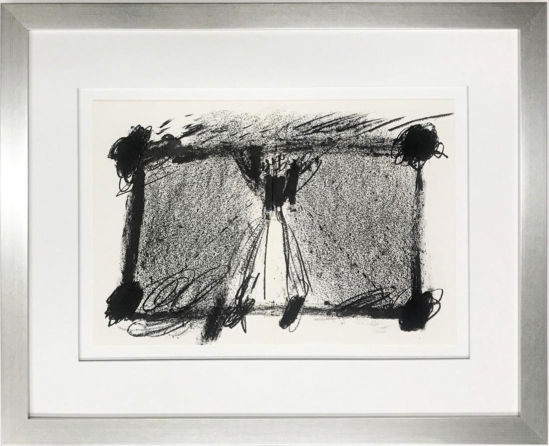 Antoni Tapies Original lithograph Untitled (08175d)
