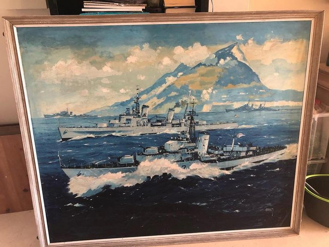 Original oil on board by John S Smith,signed dated