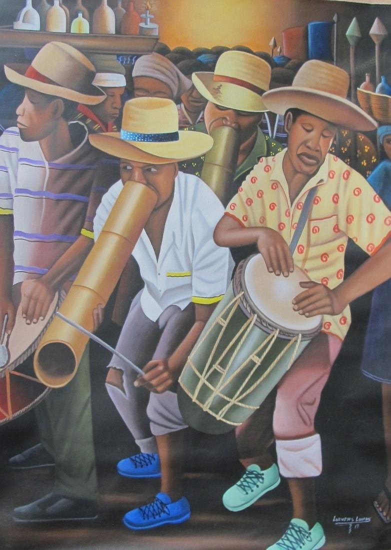 Lovens Lorvens (Haitian Art): Traditional music band