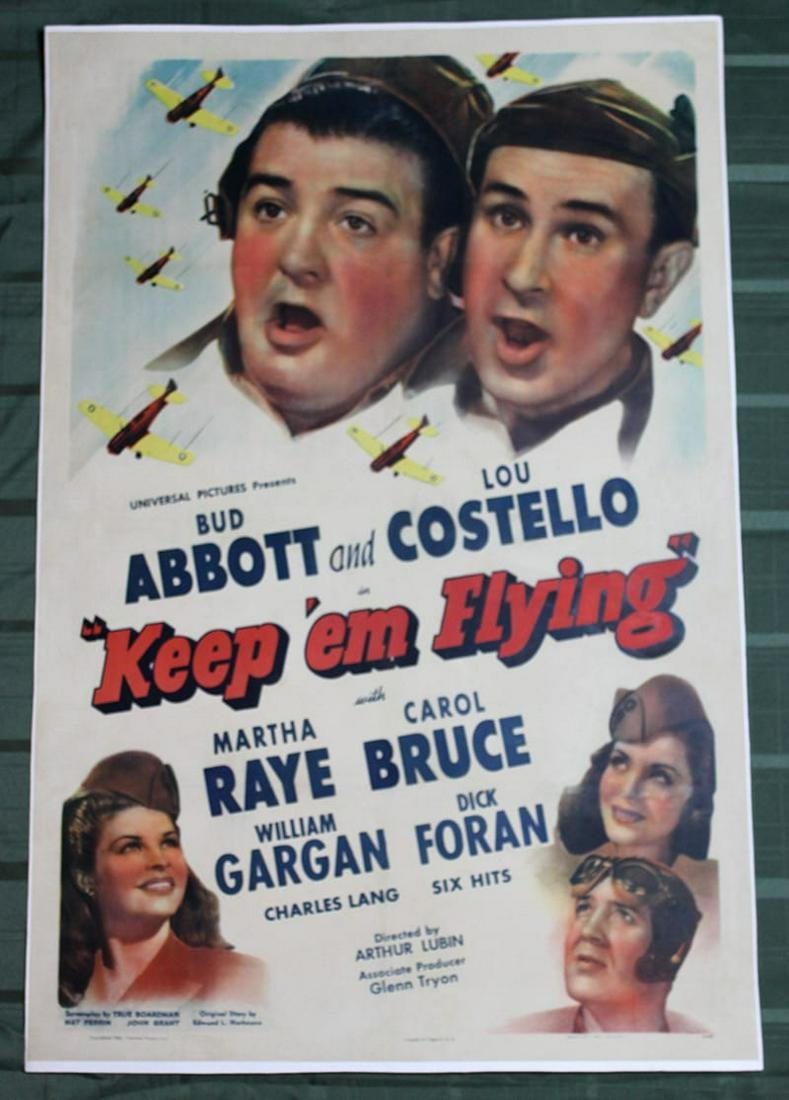 Keep 'Em Flying (USA, 1941) US One Sheet Movie Poster