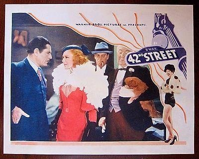 REDUCED!! 42ND STREET '33 LC GINGER ROGERS BAXTER ~ GUY