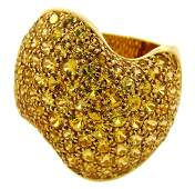 VAN CLEEF & ARPELS Yellow Sapphire Gold RING Authentic