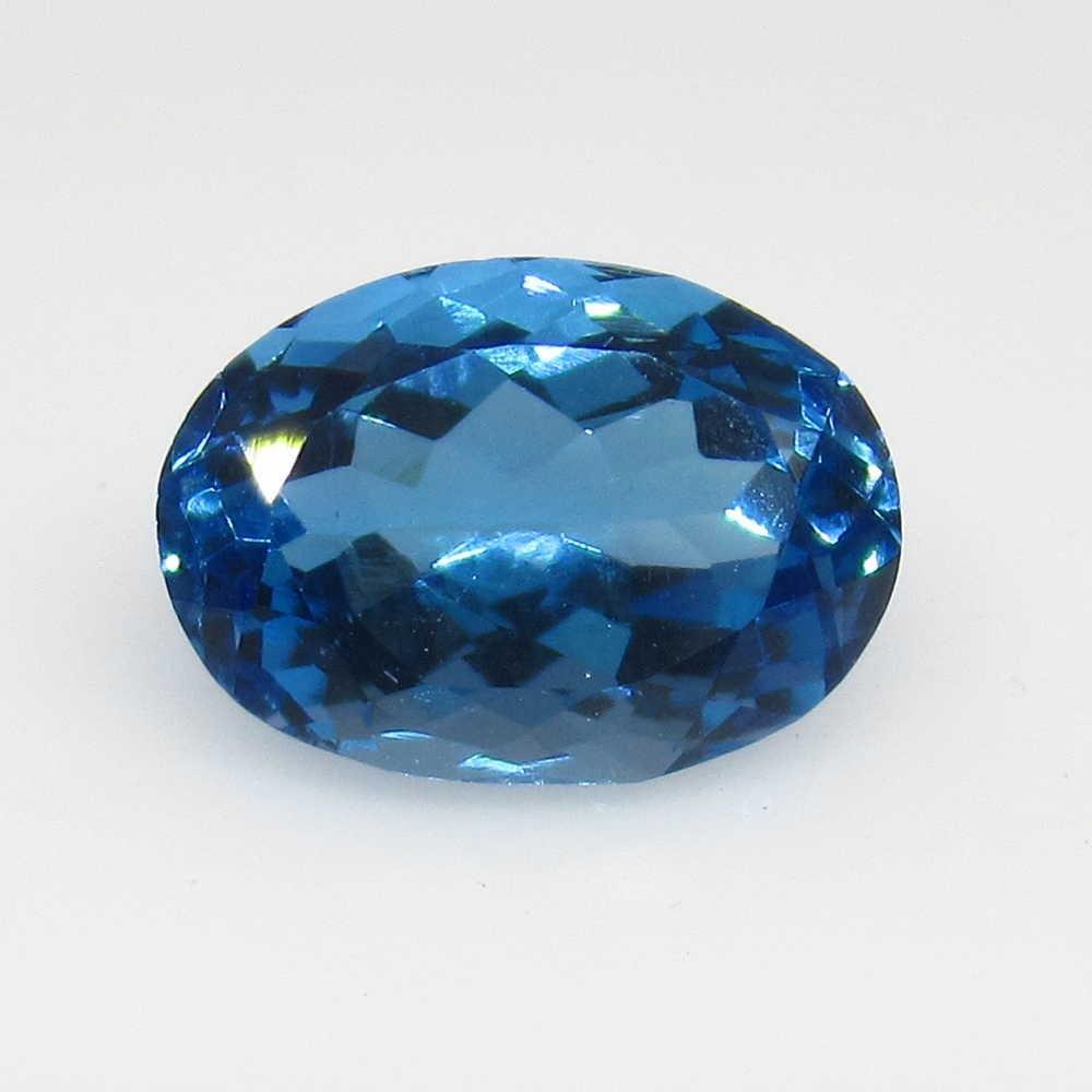 3.43 Ct Genuine Blue Topaz Oval Cut