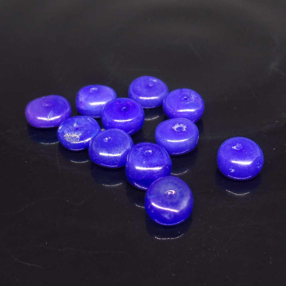 4.90 Ct Genuine 11 Drilled Round Blue Fire Opal Beads