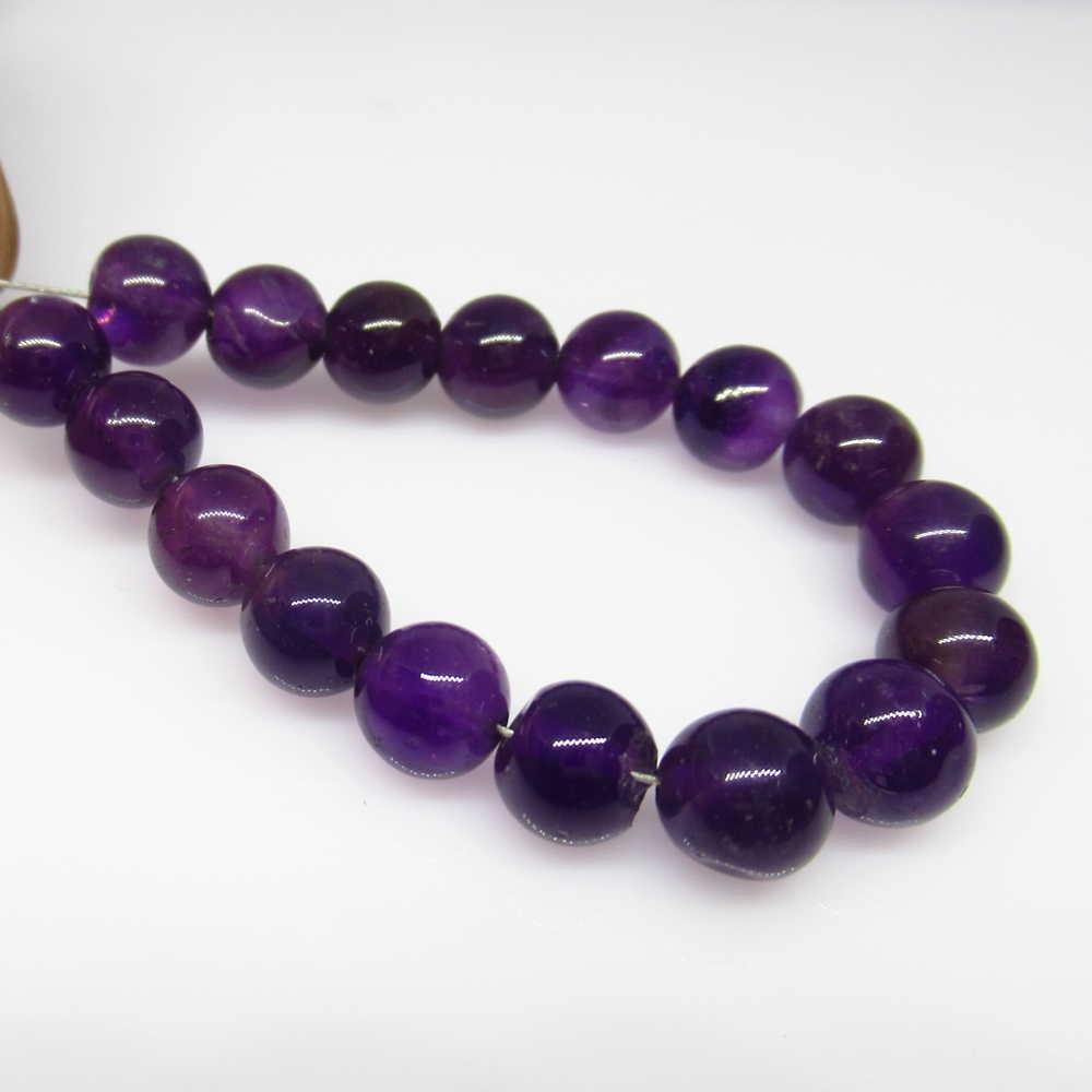 25.50 Ct Genuine 17 Purple Amethyst Drilled Round Ball