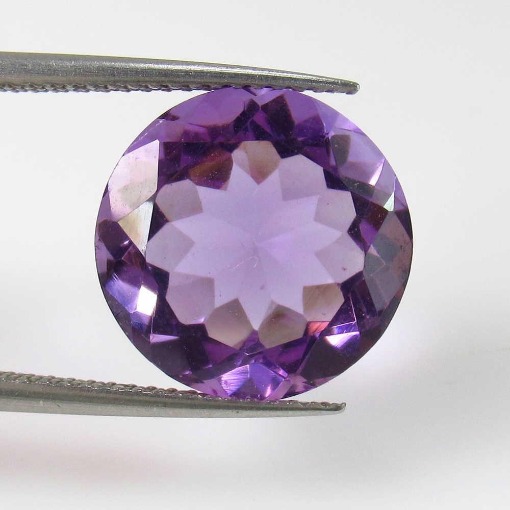 6.54 Ct Genuine Purple Amethyst Round Cut