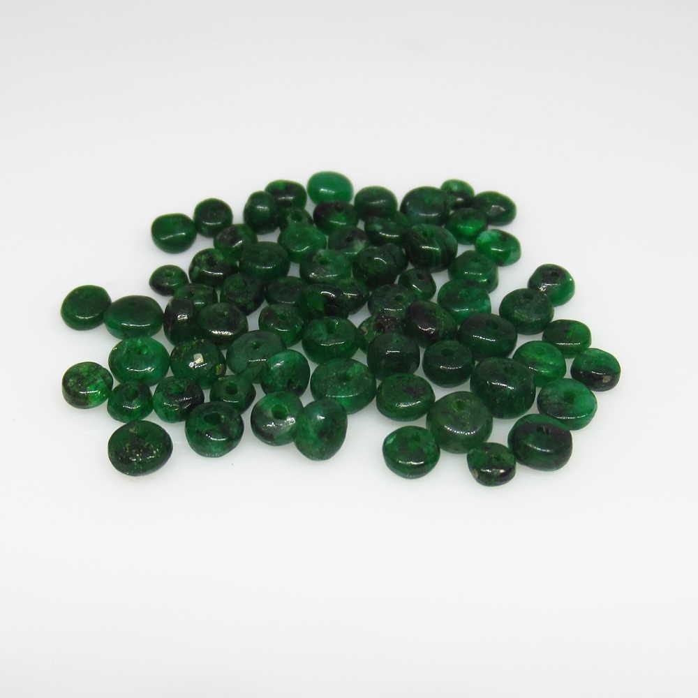 9.85 Ct Genuine 73 Zambian Emerald Drilled Round Beads