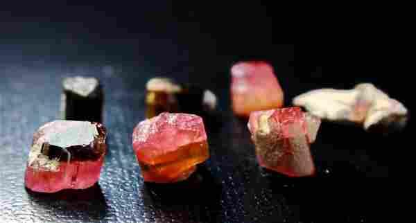 Natural & unheated~ Pink Cap Tourmaline Crystal