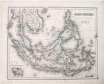 1855 Colton Map of East Indies  East Indies