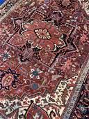 Semi Antique Hand Woven Persian Heriz 10.8x7.5
