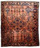Handmade antique Persian Lilihan rug 5.3' x 6.9' (161cm