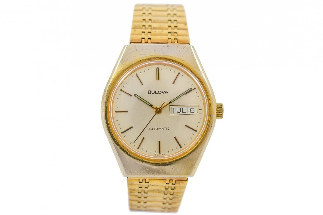 Vintage Bulova S7076T Automatic Gold Plated Gents Watch