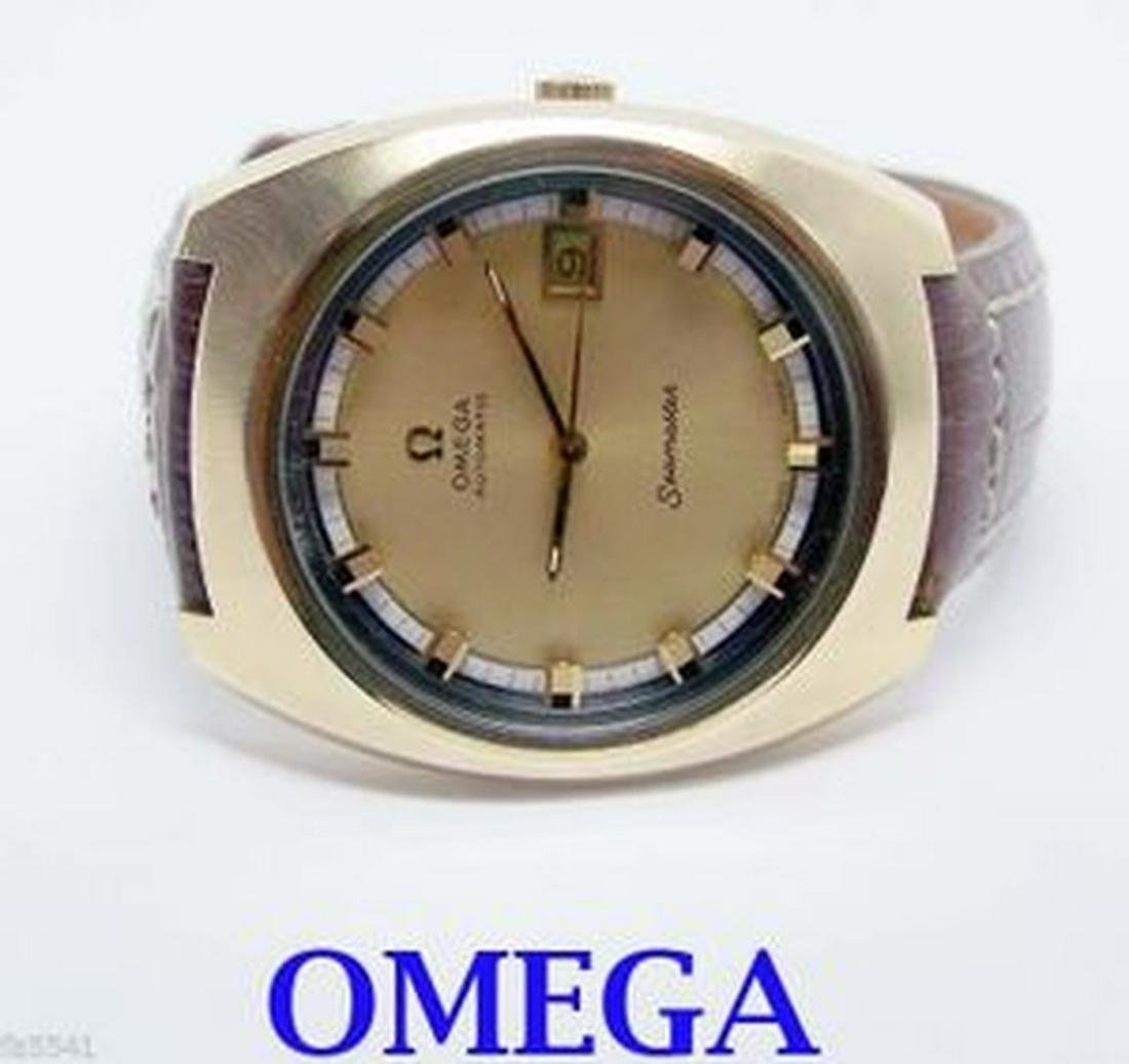 Gold color OMEGA SEAMAASTER Automatic Watch c.1970s