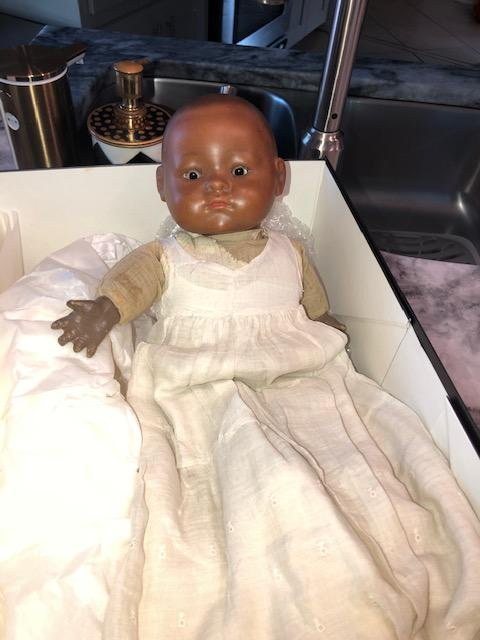 Bye-Lo Pre-1925 African American Bisque Faced Baby Doll