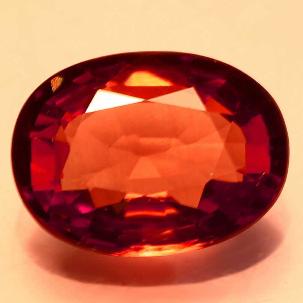1.88Ct Marvelous Oval Cut 9 x 6 mm Brown To Red Color
